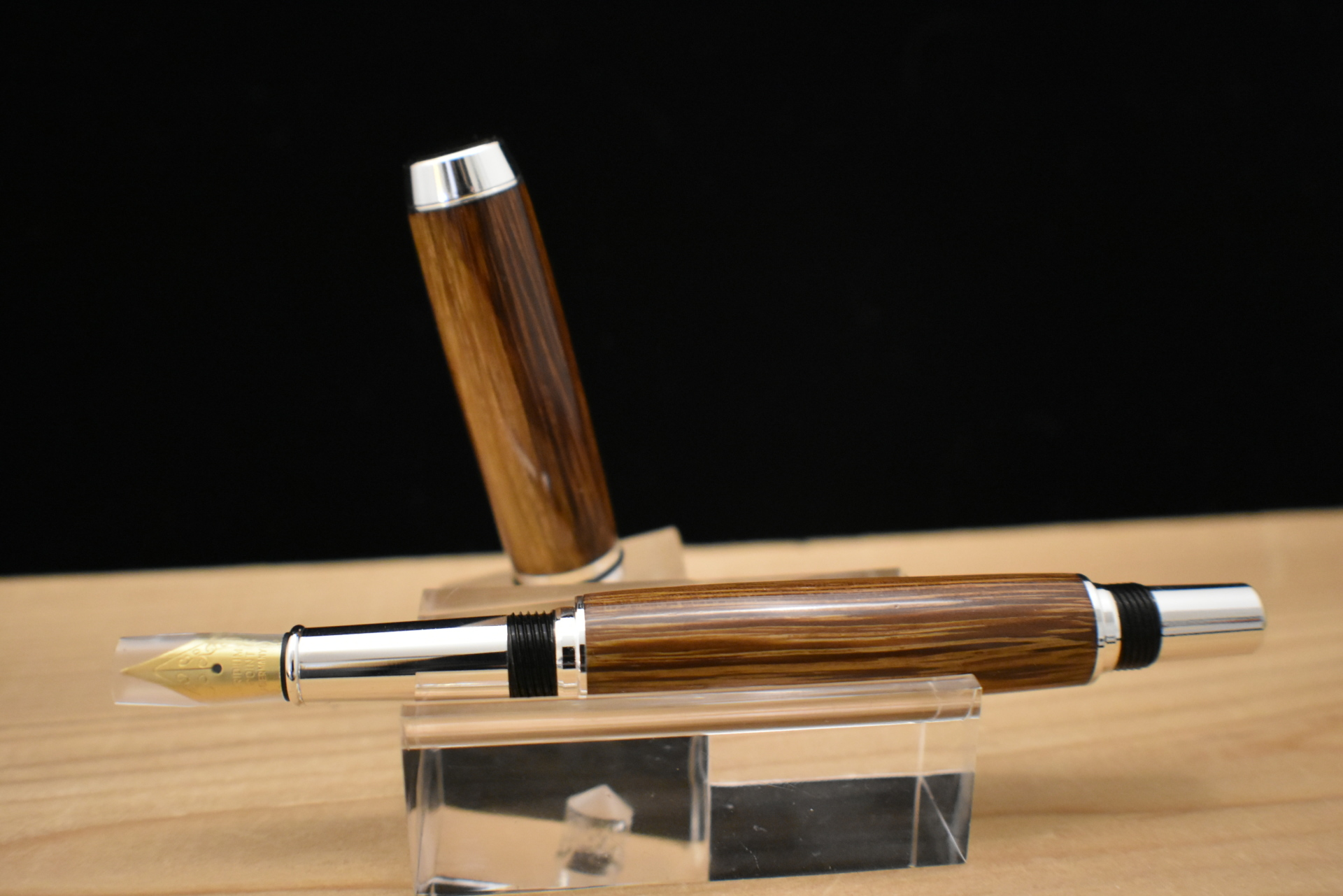 #201 - Baron Fountain Pen Silver Plated Cocobolo Wood - 2 pieces